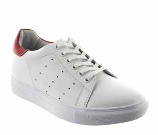 PORTOVENERE SPORTSHOE WHITE/RED +2""
