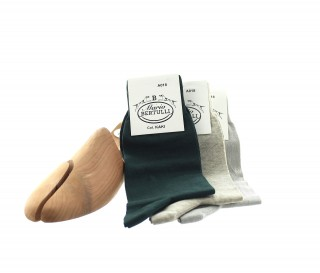 1 PACK OF 3 LISLE COTTON SOCKS - BORDEAUX/BROWN/BEIGE