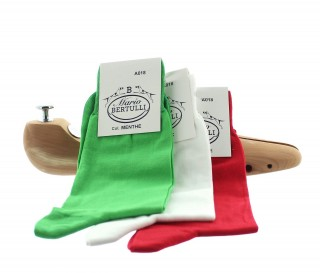 1 PACK OF 3 LISLE COTTON SOCKS - MINT/WHITE/RED