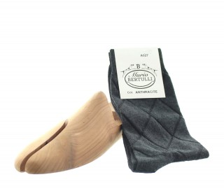 ANTHRACITE COTTON SOCKS