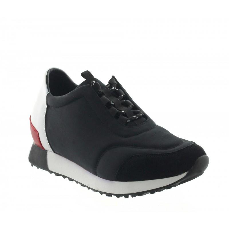Vorderansicht  Sneaker Desio Schwarz | +7cm mehr Körpergröße | Herrenschuhe – Mario Bertulli