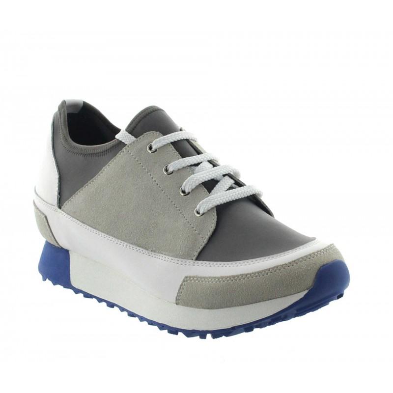 Vorderansicht  Sneaker Ivrea Beige/Weiß   +7cm mehr Körpergröße   Herrenschuhe – Mario Bertulli