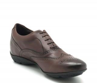 Vorderansicht  Sneaker Belluno Braun | +5cm mehr Körpergröße | Herrenschuhe – Mario Bertulli