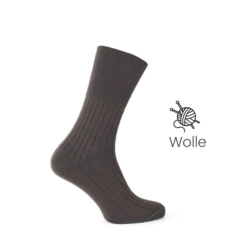 Vorderansicht  Socken ohne Druck in Braun | Herrenschuhe – Mario Bertulli