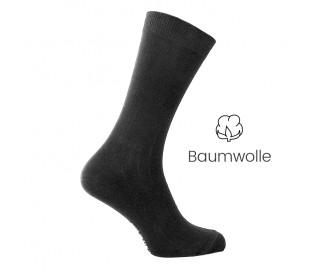 Elasticher Baumwolle Socken Schwarz