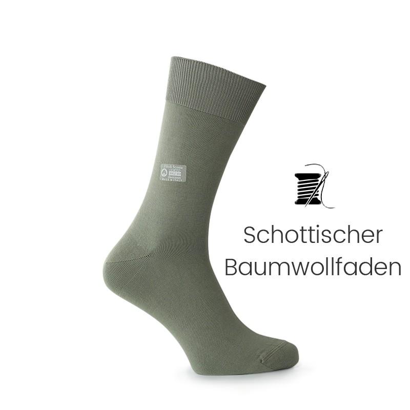 Vorderansicht  Socken Grün   Herrenschuhe – Mario Bertulli