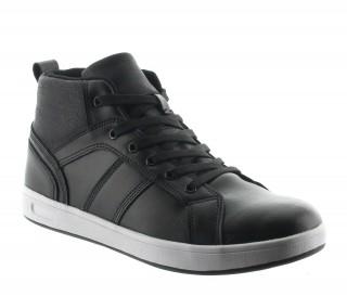 Sneaker Cervo Schwarz +6cm