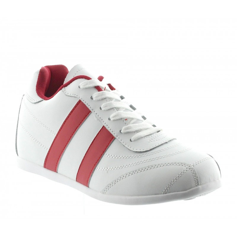 SPORTSCHUH SORRENTO WEISS/ROTE +5CM