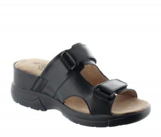 Sandale Stilo Schwarz +6cm