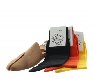 3ER - PACK SOCKEN - ORANGE/ANTHRAZIT/GELB
