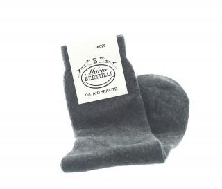 Vorderansicht  Socken aus Wolle und Kaschmir in Anthrazit | Herrenschuhe – Mario Bertulli