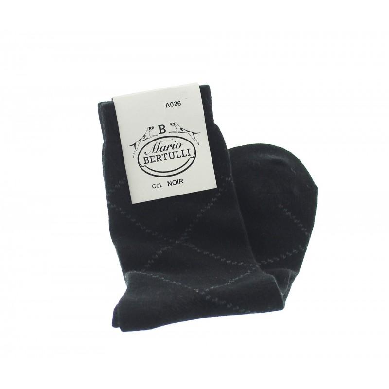 Vorderansicht  Socken aus Wolle und Kaschmir in Schwarz | Herrenschuhe – Mario Bertulli