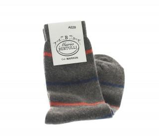 Gestreifte Socken Aus Wolle Und Kaschmir Braun
