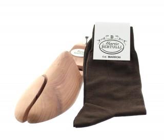 Vorderansicht  Socken Braun | Herrenschuhe – Mario Bertulli