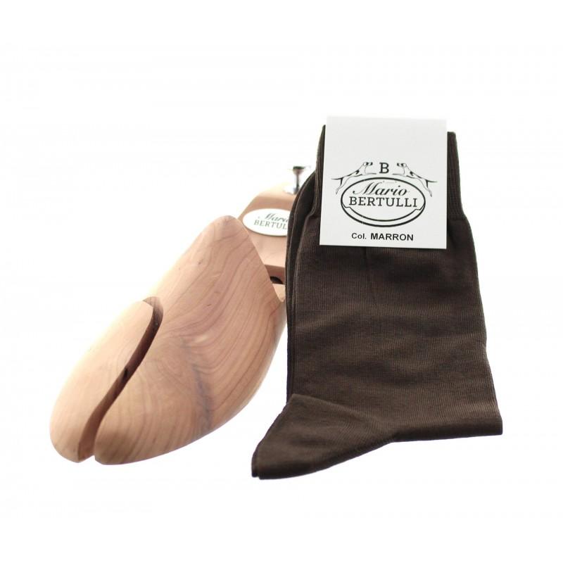Vorderansicht  Socken Braun   Herrenschuhe – Mario Bertulli