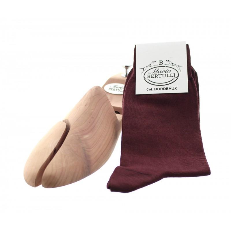 Vorderansicht  Socken Bordeaux | Herrenschuhe – Mario Bertulli