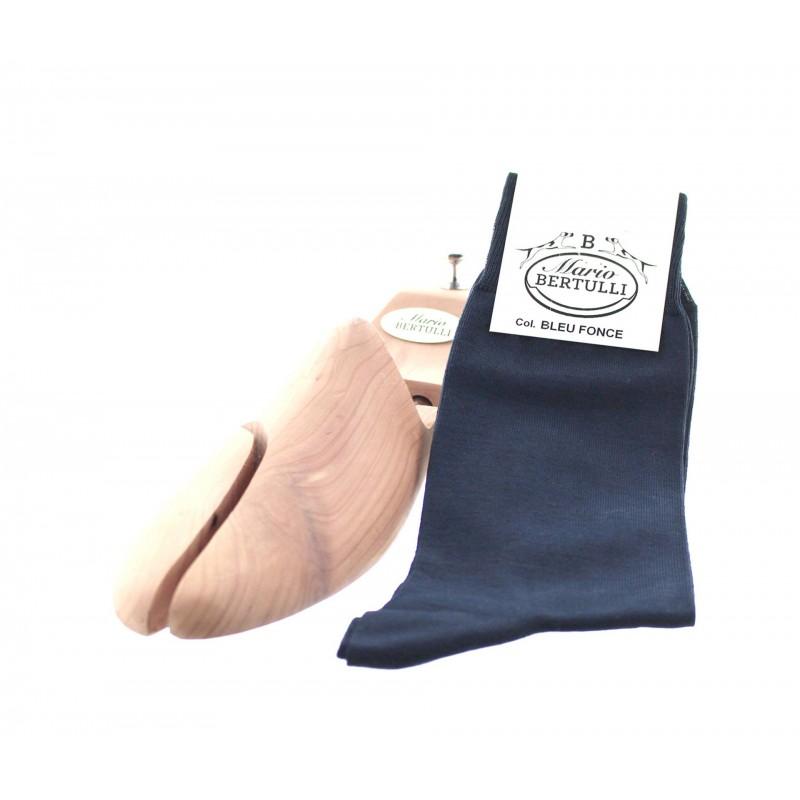 Vorderansicht  Socken Dunkelblau | Herrenschuhe – Mario Bertulli