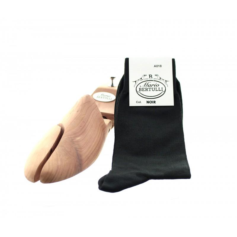 Vorderansicht  Socken Schwarz | Herrenschuhe – Mario Bertulli