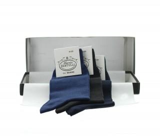 Box 3 Paar Socken - Marineblau/anthrazit/dunkelblau