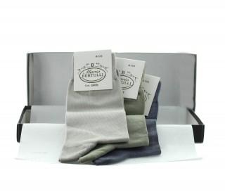 Vorderansicht  Box 3 Paar Socken - Grau/Grün/Hellgrau | Herrenschuhe – Mario Bertulli