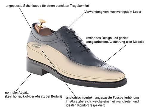 Mario Bertulli bietet Ihnen die Kollektion von hohen Schuhe für Männer: Luxus Schuhe, Business Schuhe, Sport Schuhe.