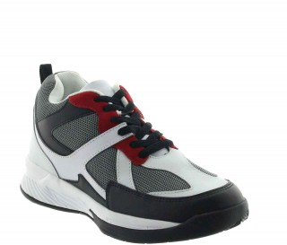 Height Increasing Sports Shoes Men - White - Leather/mesh - +2.8'' / +7 CM - Lesina - Mario Bertulli