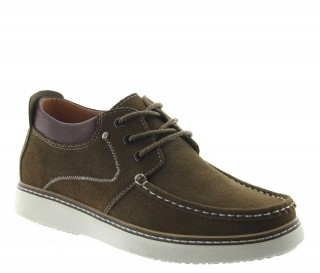 Height Increasing Boat Shoes Men - Brown - Nubuk - +2.2'' / +5,5 CM - Pistoia - Mario Bertulli