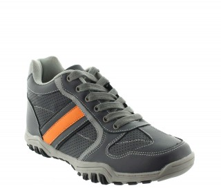 Height Increasing Sports Shoes Men - Gray - Leather - +2.4'' / +6 CM - Crotone - Mario Bertulli