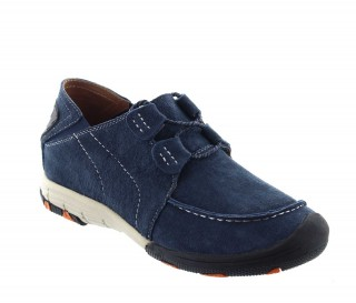Height Increasing Sports Shoes Men - Blue - Nubuk - +2.0'' / +5 CM - Courmayeur - Mario Bertulli