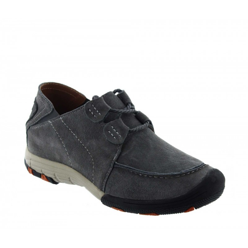 Height Increasing Sports Shoes Men - Light grey - Nubuk - +2.0'' / +5 CM - Courmayeur - Mario Bertulli