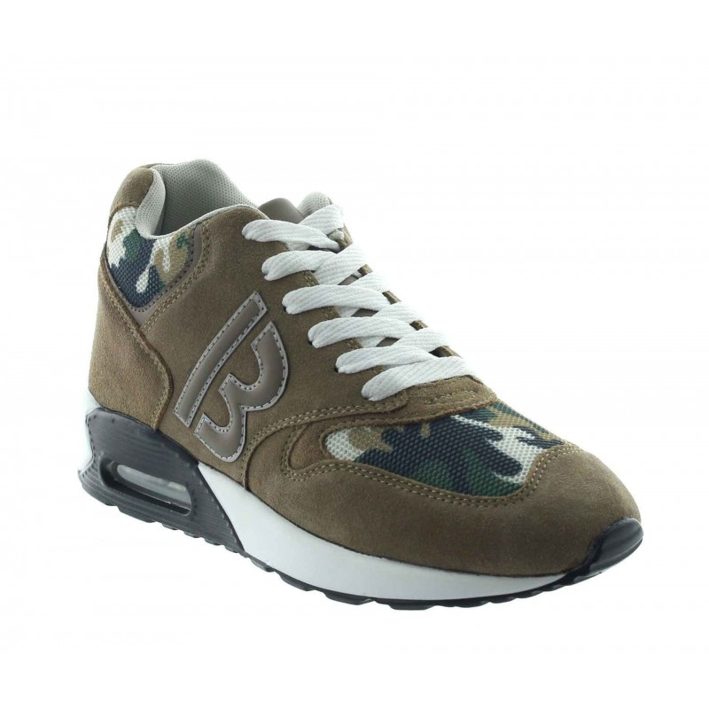 Height Increasing Sports Shoes Men - Camel - Nubuck/mesh - +2.8'' / +7 CM - Brenta - Mario Bertulli