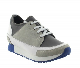 Height Increasing Sneakers Men - Beige - Textil/nubuck/leather - +2.8'' / +7 CM - Ivrea - Mario Bertulli
