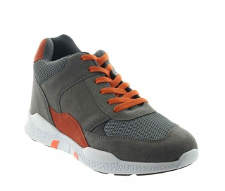 Height Increasing Sports Shoes Men - Gray - Nubuck/mesh - +2.8'' / +7 CM - Vieste - Mario Bertulli