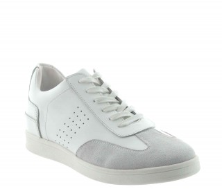 Height Increasing Sneakers Men - White - Leather - +2.4'' / +6 CM - Defensola - Mario Bertulli