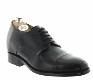 Height Increasing Derby Shoes Men - Black - Full grain calf leather - +2.4'' / +6 CM - Alessandro - Mario Bertulli