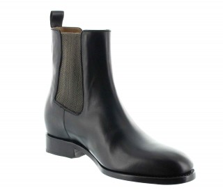 Height Increasing Boots Men - Black - Full grain calf leather - +2.4'' / +6 CM - Foggia - Mario Bertulli