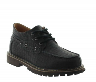 Height Increasing Boat Shoes Men - Black - Leather - +2.6'' / +6,5 CM - Giustino - Mario Bertulli
