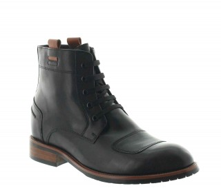 Height Increasing Boots Men - Black - Leather - +3.2'' / +8 CM - Rovereto - Mario Bertulli