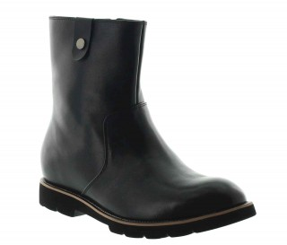 Height Increasing Boots Men - Black - Leather - +2.8'' / +7 CM - Rovereto - Mario Bertulli