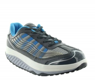 Height Increasing Sports Shoes Lady - Blue - Leather - +2.0'' / +5 CM - Mara - Mario Bertulli
