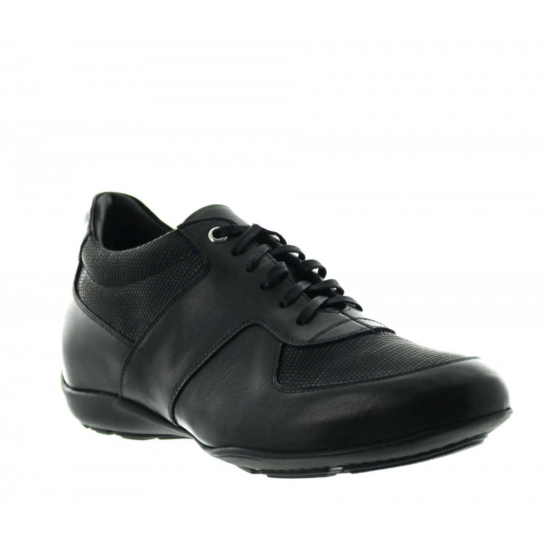 Height Increasing Sneakers Men - Black - Full grain calf leather - +2.0'' / +5 CM - Bordighera - Mario Bertulli