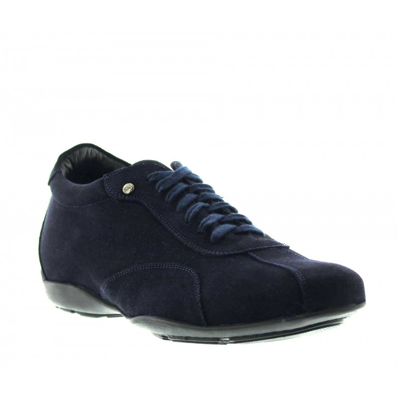Height Increasing Sneakers Men - Navy blue - Nubuk - +2.0'' / +5 CM - Rho - Mario Bertulli