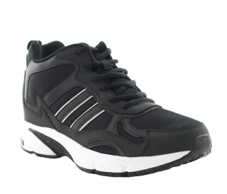 Height Increasing Sports Shoes Men - Black - Leather/mesh - +2.8'' / +7 CM - Ala - Mario Bertulli