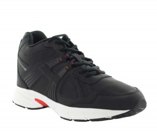 Height Increasing Sports Shoes Men - Black - Leather - +3.0'' / +7,5 CM - Carisolo - Mario Bertulli