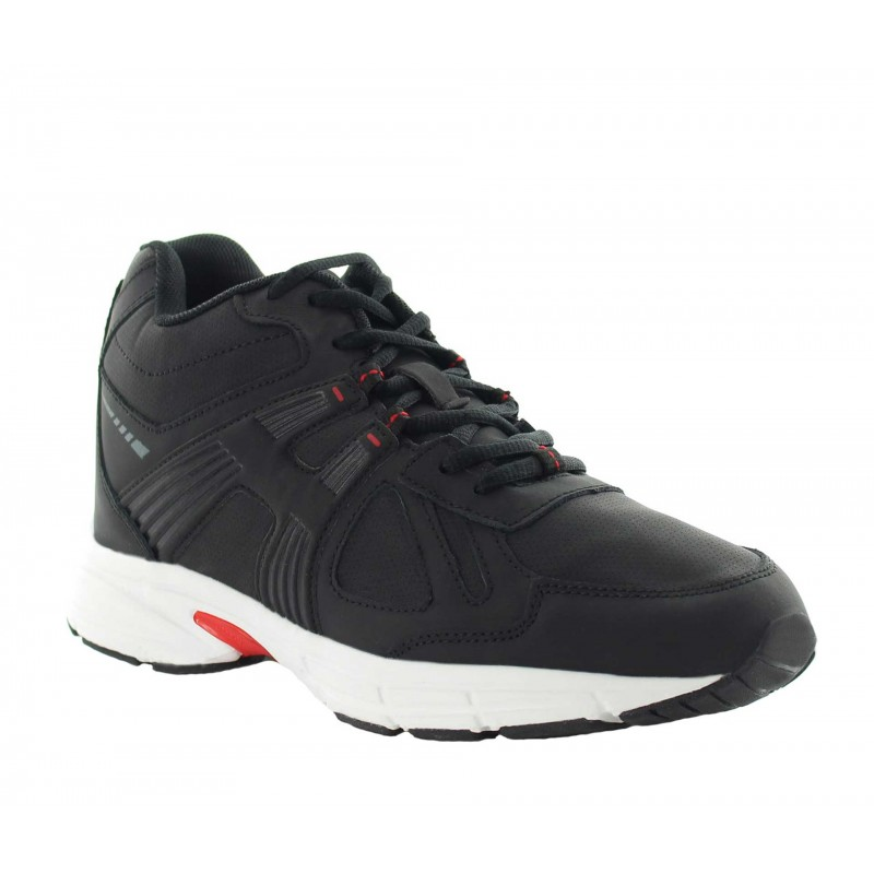 Height Increasing Sports Shoes Men - Black - Leather - +3.0'' / +7,5 CM - Carisolo - Mario Bertulli