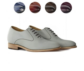 "Elevator shoes Lorenzo Patinated handmade +2.4"""