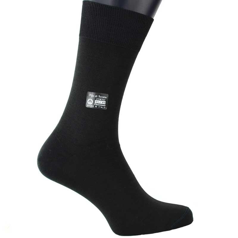 BLACK SCOTTISH LISLE THREAD SOCKS - FREE