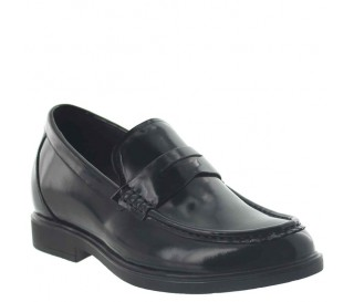 """Levico Loafer Elevator Shoes Patent Black +2.6"""""""