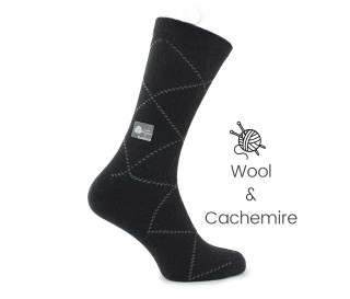 Black wool/cashmere socks - Cashmere Socks from Mario Bertulli - specialist in height increasing shoes