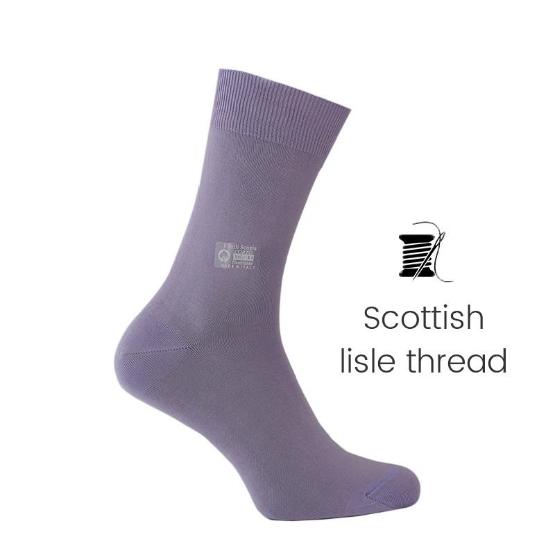 Lavender Scottish lisle thread socks - Scottish Lisle Cotton Socks from Mario Bertulli - specialist in height increasing shoes